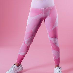 Sportlegging Dames Camo Roze - Workout Empire Shape