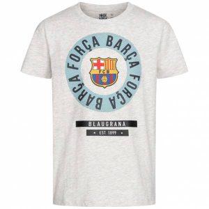 FC Barcelona Embleem Jongens T-shirt Wit FCB-3-399B