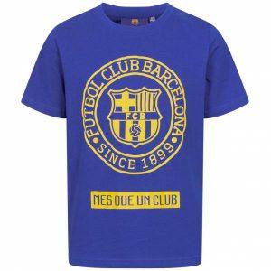 FC Barcelona Emblem Kinderen T-shirt Blauw FCB-2-024